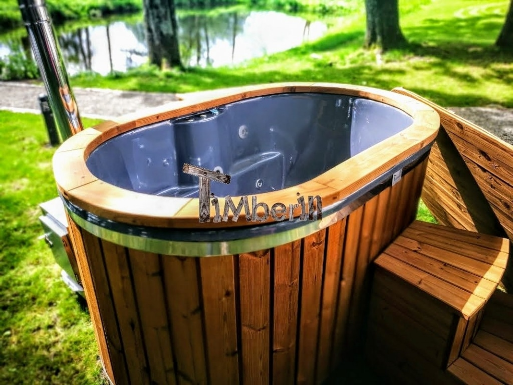 2-Personen-whirlpool für draußen mit Thermoholzverkleidung