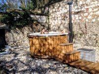 Fiberglas Außen-Jacuzzi Whirlpool Frankreich