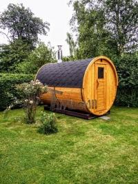 Außentonne-Sauna im Garten Deutschland