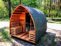 Außensauna iglu design red cedar