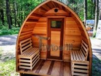 Gartensauna iglu design red cedar