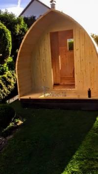 DIY Außensauna - Installation der Haustüren