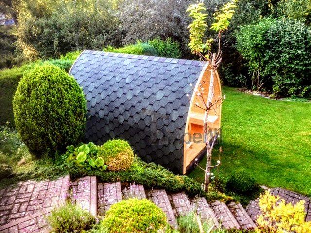 DIY Outdoor-Sauna-Projekt - in der Ferne abgebildet - abgeschlossen