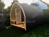 DIY Saunaprojekt - von der rechten Seite abgebildet - fertig